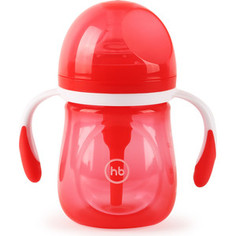 Бутылочка Happy Baby антиколиковая с ручками и силиконовой соской 180 мл. 10019 RUBY
