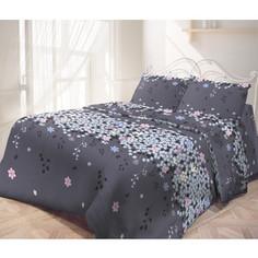 Комплект постельного белья Самойловский текстиль семейный, страйп, Незабудка (713956)