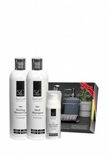 Набор для тела и волос SeaCare Мужской косметический №8, Шампунь, Гель для душа, Антивозрастной крем для лица, 400 + 400 + 50 мл