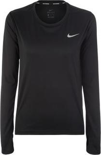 Футболка с длинным рукавом женская Nike Miler, размер 46-48