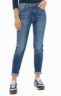 Зауженные синие джинсы с высокой талией United Colors of Benetton