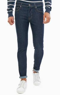 Синие зауженные джинсы с контрастной строчкой United Colors of Benetton