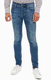 Синие зауженные джинсы со стандартной посадкой United Colors of Benetton