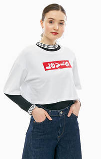 Укороченная футболка оверсайз с логотипом бренда Levis