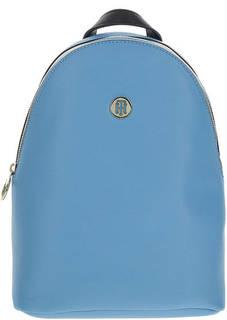 Голубой городской рюкзак с тонкими лямками Tommy Hilfiger