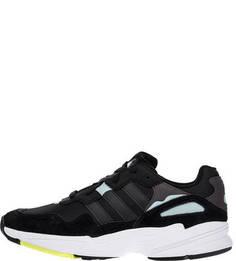 Текстильные кроссовки с замшевыми вставками Yung-96 Adidas