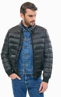 Черная демисезонная куртка-бомбер Tommy Hilfiger