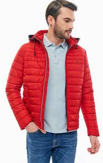 Красная демисезонная куртка со съемным капюшоном Tommy Hilfiger