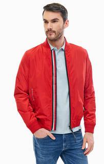 Красная куртка-бомбер на молнии Tommy Hilfiger