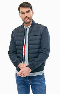 Куртка-бомбер синего цвета на молнии Tommy Hilfiger