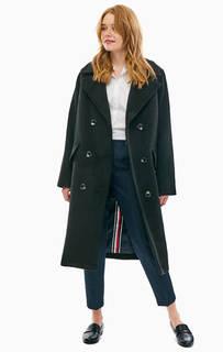 Полушерстяное двубортное пальто в классическом стиле Tommy Icons