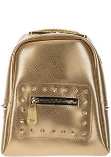 Маленький золотистый рюкзак с выделкой под рептилию GUM Gianni Chiarini Design