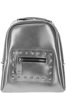Маленький серебристый рюкзак с выделкой под рептилию GUM Gianni Chiarini Design