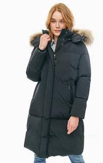 Длинный зимний пуховик с меховой отделкой WS Ester Oversize Woolrich