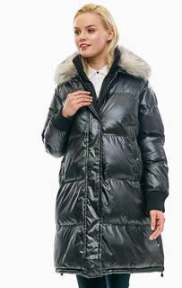 Зимняя куртка черного цвета с карманами Tommy Hilfiger