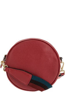 Маленькая кожаная сумка круглой формы через плечо Gianni Chiarini