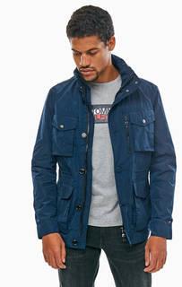 Легкая синяя куртка со скрытым капюшоном Tommy Hilfiger