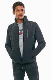 Легкая куртка черного цвета на молнии Tommy Hilfiger