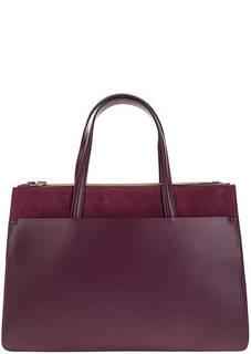 Фиолетовая сумка из гладкой кожи с замшевыми вставками Gianni Chiarini