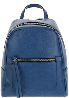 Рюкзак синего цвета из сафьяновой кожи Gianni Chiarini