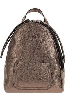 Маленький кожаный рюкзак бронзового цвета Gianni Chiarini