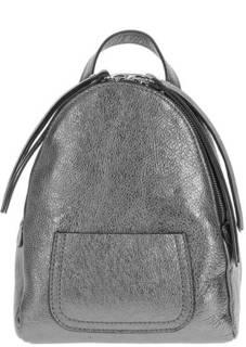 Маленький кожаный рюкзак серебристого цвета Gianni Chiarini