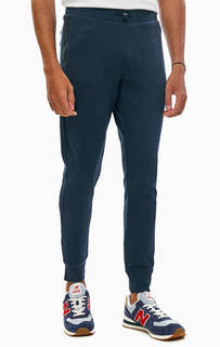 Синие хлопковые брюки джоггеры с карманами Tommy Hilfiger