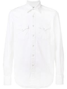 Eleventy состаренная джинсовая рубашка