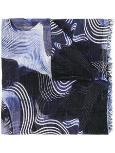 Faliero Sarti платок с волнистым принтом