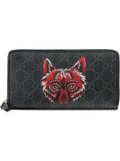 Gucci кошелек с принтом лисы