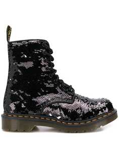 Dr. Martens sequined military boots