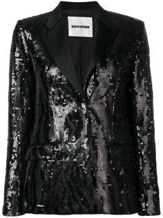 Each X Other пиджак-смокинг с пайетками