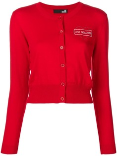 Love Moschino button heart cardigan