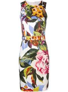 Blugirl приталенное платье с цветочным принтом