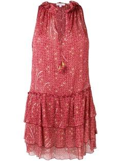 Poupette St Barth платье с цветочным принтом и оборками