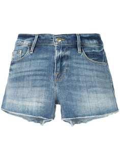 FRAME джинсовая рубашка с бахромой
