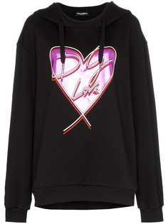 Dolce & Gabbana худи с принтом сердца DG Love