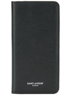 Saint Laurent чехол для iPhone X с логотипом