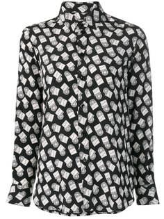 Saint Laurent рубашка с принтом виниловых пластинок