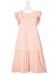 Chloé flared short-sleeve dress