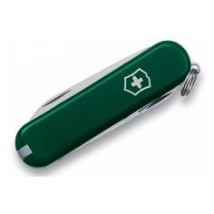 Складной нож VICTORINOX Classic, 7 функций, 58мм, зеленый [0.6223.4]