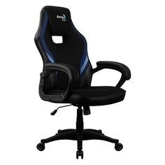 Кресло игровое AEROCOOL AERO 2 Alpha, на колесиках, ткань дышащая, черный/синий [2 alpha black blue]