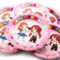 Одноразовые тарелки Эврика N 5 С днем рождения 190mm 6шт 96939 Evrika