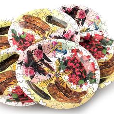 Одноразовые тарелки Эврика N 8 Пазл 190mm 6шт 96942 Evrika