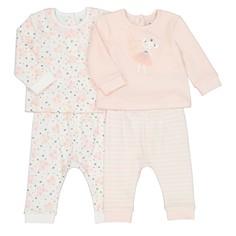 2 пижамы велюровые 3 мес-4 лет LA Redoute Collections