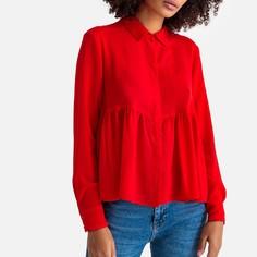 Блузка струящаяся с длинными рукавами Suncoo