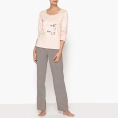 Пижама с рисунком из хлопка LA Redoute Collections