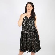 Платье расклешенное однотонное средней длины, без рукавов Lovedrobe