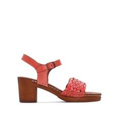 Босоножки кожаные на каблуке TRESSIE Kickers