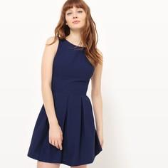 Платье короткое, без рукавов, однотонное Suncoo